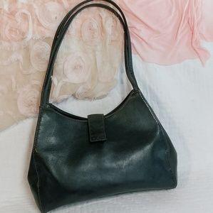 Black Leather Shoulder Bag by Fossil